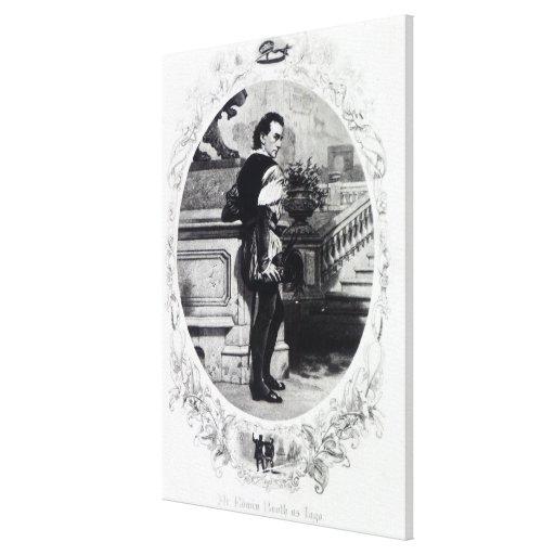 Sr. Edwin Booth como Iago Lona Estirada Galerias