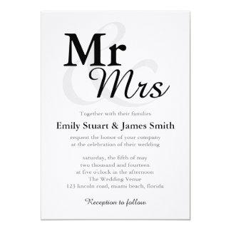 """Sr. el casarse de los &Mrs Invitación 5"""" X 7"""""""