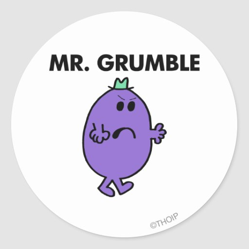 Sr. extremadamente infeliz Grumble Pegatina Redonda