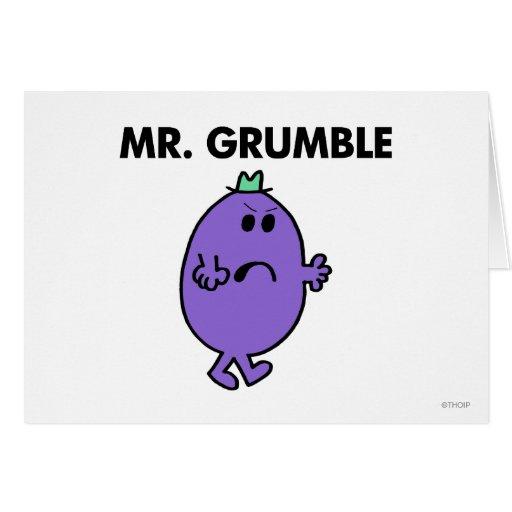 Sr. extremadamente infeliz Grumble Tarjeta De Felicitación