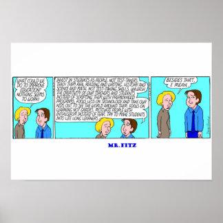 Sr. Fitz - la solución para la educación Póster