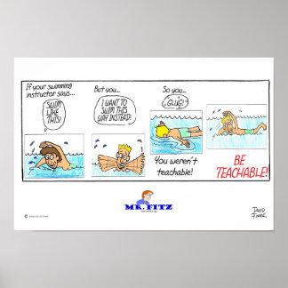 Sr. Fitz: Sea 1 enseñable - natación Póster