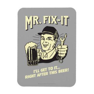 Sr. Fixit: Después de esta cerveza Imanes Rectangulares