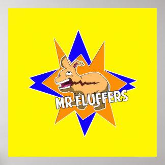 ¡Sr. Fluffers! Póster