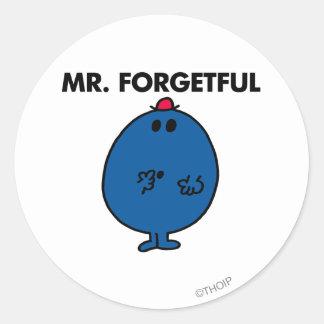 Sr. Forgetful el | cuál era el hacer de I Pegatina Redonda