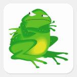 Sr. Frog Pegatinas Cuadradases