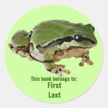 Sr. Froggie Etiqueta Redonda