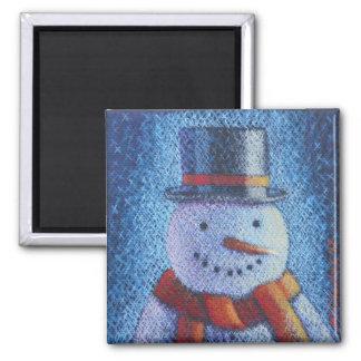 Sr. Frost Snowman Magnet Imán Cuadrado