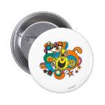 Sr. Funny Swirl Color Pins
