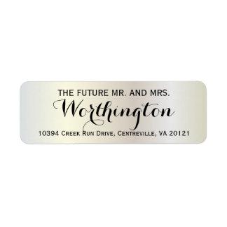 Sr. futuro personalizado y señora del boda de etiqueta de remitente