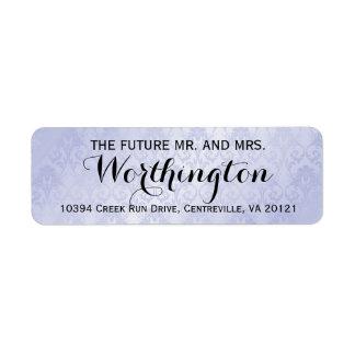 Sr. futuro personalizado y señora del boda de etiquetas de remite