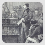 Sr. Gladstone que entrega su discurso virginal Pegatina Cuadrada