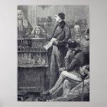 Sr. Gladstone que entrega su discurso virginal Póster