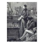 Sr. Gladstone que entrega su discurso virginal Tarjetas Postales
