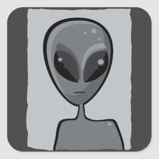 Sr. Gray Sticker Pegatina Cuadrada