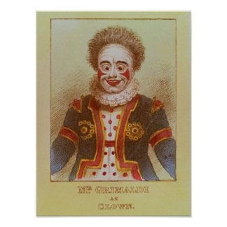 Sr Grimaldi como payaso Poster