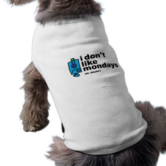 Sr. Grumpy Does Not Like lunes Camiseta Sin Mangas Para Perro