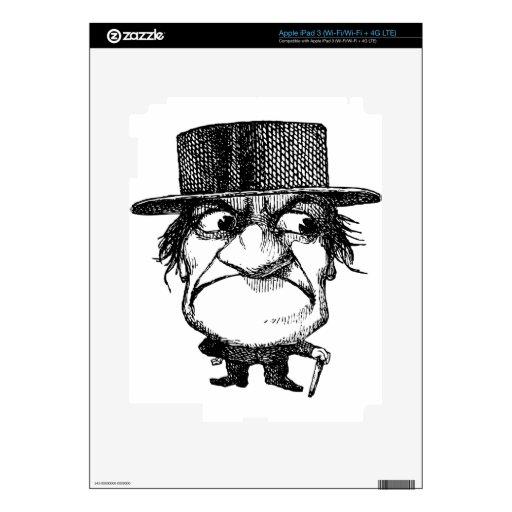 Sr. Grumpyhead iPad 3 Skins