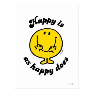 Sr. Happy el | feliz es como feliz lo hace Postal