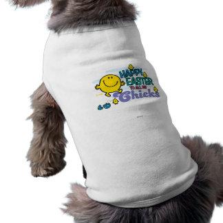 Sr. Happy el | Pascua feliz a todos mis polluelos Camiseta Sin Mangas Para Perro