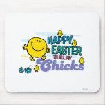 Sr. Happy el   Pascua feliz a todos mis polluelos Tapete De Ratones