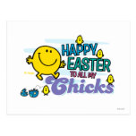 Sr. Happy el   Pascua feliz a todos mis polluelos Tarjetas Postales