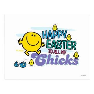 Sr. Happy el | Pascua feliz a todos mis polluelos Postal