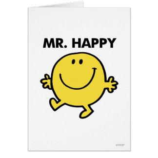 Sr. Happy el | que baila y que sonríe Tarjeta De Felicitación