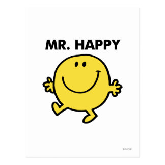 Sr. Happy el | que baila y que sonríe Postal
