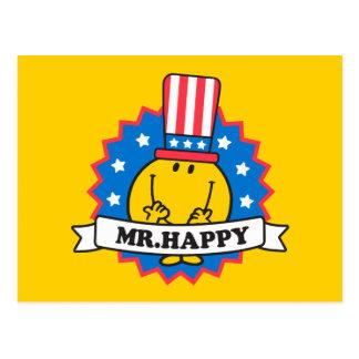 Sr. Happy Election Seal Tarjetas Postales