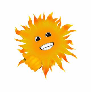 Sr. Happy Sunshine - pulgares para arriba Fotoescultura Vertical