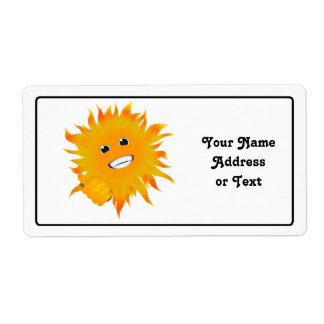 Sr. Happy Sunshine - pulgares para arriba Etiquetas De Envío