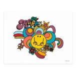 Sr. Happy Swirl Color Postales