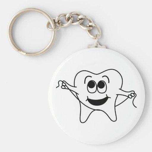 Sr. Happy Tooth Llavero Redondo Tipo Pin
