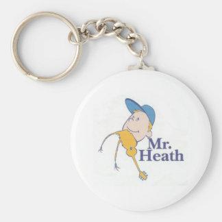 Sr. heath logo llavero redondo tipo pin