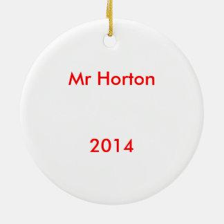 Sr. Horton Ornament Adorno Navideño Redondo De Cerámica