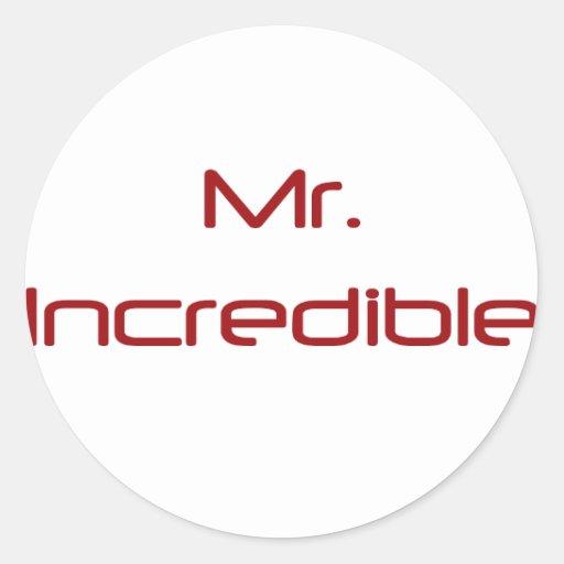 Sr. Incredible Pegatinas Redondas