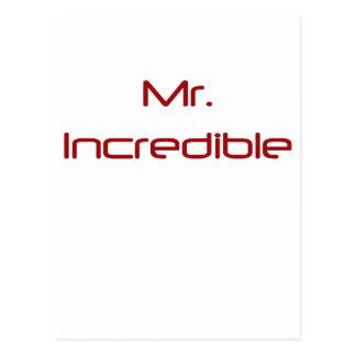 Sr. Incredible Tarjetas Postales