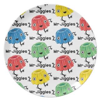 Sr. Jiggles - placa del jello Plato De Cena