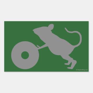 Sr. Jingles de la milla verde Pegatina Rectangular