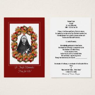 Sr. Josefa Menendez  Novena Card