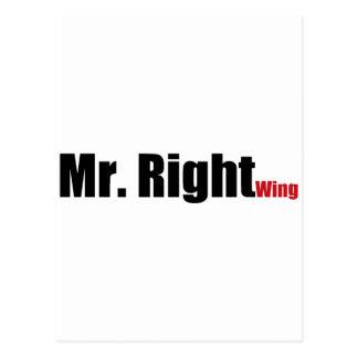 Sr. la derecha postal