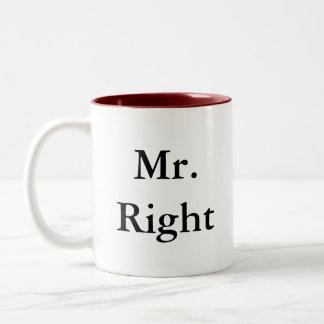 Sr. la Right Mugs Taza Dos Tonos