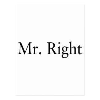 Sr. la Right Tarjetas Postales