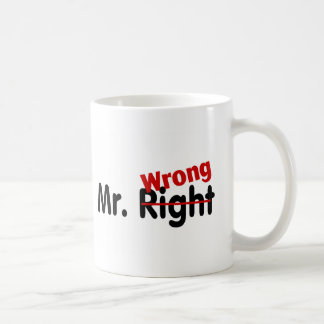 Sr. la Right Wrong Taza Básica Blanca