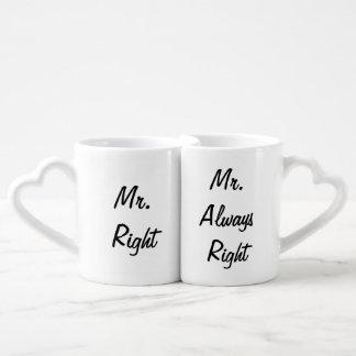 Sr. la Right y Sr. Always la Right Mug Set Taza Amorosa
