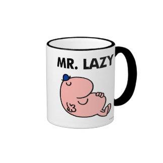 Sr. Lazy Snoozing Away Taza De Dos Colores