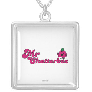 Sr. magenta Chatterbox Logo Colgante Cuadrado