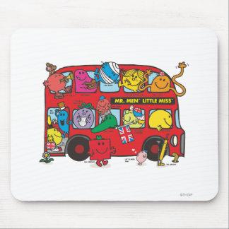 Sr. Men y pequeña Srta. Bus Alfombrillas De Ratón