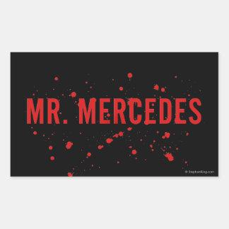 Sr. Mercedes Logo Pegatina Rectangular